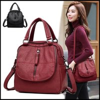 Wholesale small bookbags for sale - Group buy Cute Black Red Women Backpacks Fashion Shoulder Crossbody Bags for Girl Bookbags Solid Small Schoolbags Travel Bag LJ200923