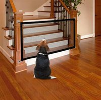 Wholesale baby gates door resale online - 1 m m Pet Dog Fence Magic Gate Safety Foldable Mesh Pet Fence For Dog Cat Baby Door Fence Cage Supply Separation Net