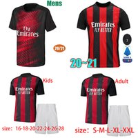 Wholesale jersey milan gold for sale - Group buy 2020 ac soccer jersey milan THEO PAQUETA BENNACER REBIC LEAO ROMAGNOLI IBRAHIMOVIC football jerseys shirt Men kids