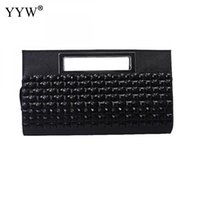 hangbags für frauen groihandel-2018 Diamanten Strass Plaid Kupplungen Hangbags für Frauen Tragbare Softbags Clutch Bags Dame Black Goldsplitter Evening Purse