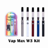 Wholesale vap kits resale online - Vap Max W3 Kit mAh Vertex Preheat Battery VV Variable Voltage Preheating Vape ml ml Cartridge Fit Vaporizer USB Charger Vape Pen