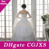 Wholesale veils edged bling resale online - Bling Bling White Ivory Cheap Fingertip Length Bridal Veils Lace Edge Applique Wedding Veil Bridal Accessories D5