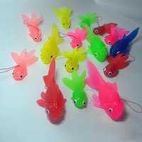 Wholesale shipping goldfish for sale - Group buy Mini Kids Simulation New Toys Home Free Novelty Flexible Fashion Cute Multicolor Game Gift Goldfish Shipping xhlove bUOsT