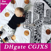 Wholesale acrylic floors resale online - Baby Infant Play Mats Kids Crawling Carpet Floor Rug Room Decoration Kids Crawling Carpet Blanket Cotton Game Pad Children
