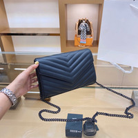 Wholesale big fashion tote resale online - 2020 new lady big brand retro handbag lady hand lady fashion shoulder bag messenger bag handbag chain twill all match shoulder bag