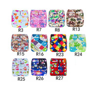 Wholesale swimming diapers for sale - Group buy Infant cartoon print adjustable Swim Diapers Cover Cloth Reusable Leakproof baby Diaper Covers pants kids Bread pants styles M2642
