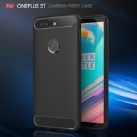 Wholesale sale armor online – custom Cgjxs Free Dhl Heavy Duty Phonecases For Oneplus5t Carbon Fiber Brused Rugged Armor Shockproof Back Cover For Oneplus t Case New Hot Sale