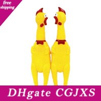 Wholesale squeaking toy resale online - Yellow Squeak Toys Screaming Rubber Chicken Trumpet Halloween New Year Christmas Gifts Kids Birthday Party Decorations Horn
