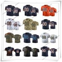 Wholesale Custom Chicago Bears Men Women Youth Kids Any Name and Number Black White Gray Green Navy Orange Football Jerseys