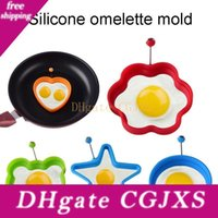 Wholesale gear pouch for sale - Group buy 5 Styles Silicone Round Omelette Handle Silicone Mold Pouch Egg Circle Cooking Kitchen Tools Pancake Mold Diy Breakfast Essential Bh1968 Cy