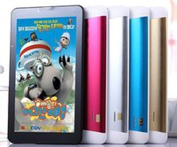 Wholesale 7 inch Tablet PC MTK Processor GB Calling MB RAM GB ROM Quad Core G Android Kids Tablet PC Study Enetertainment