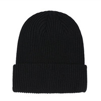 Wholesale hat beanie resale online - New France fashion beanies hats bonnet winter beanie knitted wool hat plus velvet cap skullies Thicker mask Fringe hats man