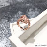 Wholesale toy finger women for sale - Group buy Finger Men Wood Jewelry Bulks Women Mens Christmas Gift Individuality Austrian Cystal Leopard Rings