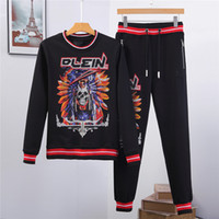 Wholesale long sleeved running shirts for sale - Group buy new high quality men Sweater suit Fashion Hoodie Cool Skulls Printed women Short Sleeved Tops Tee Long sleeve Clothing t shirt