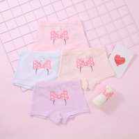 Wholesale underwear for girls 12 for sale - Group buy Cotton Girls children s Underpants and underwear big girls bowknot printed boxer underwear for babies aged