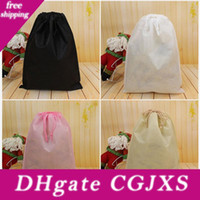 Wholesale organization shoes resale online - Non Woven Storage Dust Bag For Clothes Shoes Packaging For Handbag Travel Sundries Storage Pull Rope Organization Bags Dhl Ship Hh7