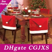 Wholesale kitchen chair set for sale - Group buy 2019 The Latest Christmas Chair Set Living Room Kitchen Chair Red Christmas Vest Spot Christmas Ornaments For