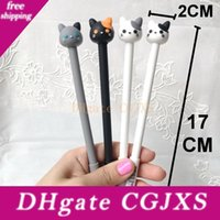 Wholesale red claws resale online - New Design Kawaii Cat Gel Pen Lovely Claw Black Ink Pens For Writing Stationery Office School Supplies Canetas Escolar F