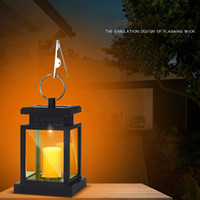 Wholesale led table lanterns for sale - Group buy Garden Solar Powered LED Candle Lantern Hanging Table Light Outdoor Decor Lamp DAG ship