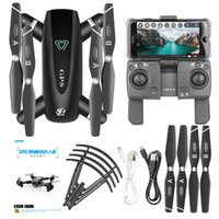 Wholesale big helicopter drone for sale - Group buy 4K folding GPS RC Drones Folding Quadcopter with K folding HD Camera G WiFi FPV P RC Helicopter With Camera Channel RC Aircraft S167
