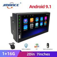 JMANCE 2 Din 7'' Car Radio Android Player GPS Multimedia Auto radio Touch Screen Bluetooth FM WIFI USB Audio Stereo Mirrorlink car dvd