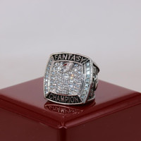 Factory Wholesale Price 2019 Fantasy Football Champion Ring USA Size 7 To 15 With Wooden Display Box Drop Shipping
