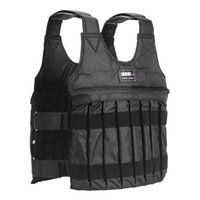 Wholesale weighted vests resale online - 20 KG Loading Weight Vest For Boxing Weight Training Workout Fitness Gym Equipment Adjustable Waistcoat Jacket Sand Clothing