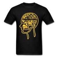 Wholesale skull control for sale - Group buy Internal Control Brain Tees Plain Crew Neck Short Mexican Skull Male Top T Shirts Soft Comfortable Tee Shirts Cutsom