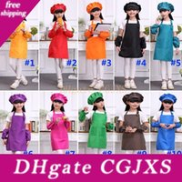 Wholesale kids baking aprons for sale - Group buy Multi Color Aprons Kids Apron Pocket Craft Cooking Baking Art Painting Kids Kitchen Dining Bib Children Aprons Kids Aprons Wx9