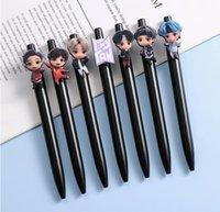 21pcs lot free shipping bts member tiny tan cartoon ball pen