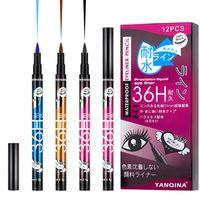 144PCS=12Box Eyeliner Makeup Yanqina Waterproof Eyeliner Precision Liquid Eye Liner 36h 0.1mm Not Blooming Long-lasting Easy Dry DHL 8607