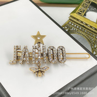 Wholesale new diamond hairpin for sale - Group buy Old new D home hairpin Dijia bee five pointed star hairpin fashionable design letter women s side clip