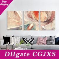 Wholesale modern art canvas paintings resale online - 2018 Abstract Canvas Wall Paintings Modern Colorful cm Framed Canvas Wall Art Picture Kitchen Living Room Home Decoration Painting