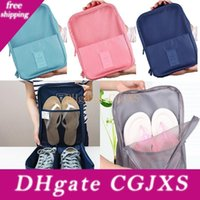 Wholesale storage pouch for shoes for sale - Group buy Waterproof Shoes Bags Storage Organizer Pouch Pocket Bag New Handle Nylon Zipper Bags For Clothes In Travel Outdoor Colors Hh7