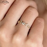 Wholesale gold finger bands girls resale online - Januarysnow Delicate Butterfly Rings for Women Girls Micro Cubic Zirconia Wedding Rings Gold Silver Color Thin Finger Ring Engagement H40