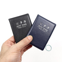 Wholesale promotional notepads resale online - 2Pcs Soft PU Cover Mini Notebook Small Pocket Notepad Mini Portable Notebook Daily Promotional Gift Stationery