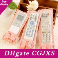 Wholesale tv remote covers cases for sale - Group buy Brand New Tv Air Conditioning Remote Control Case Cover Lace Cover Greaseproof Home Famliy Yks034