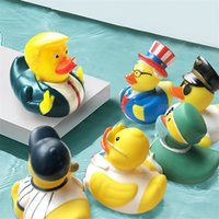Wholesale yellow duck bath for sale - Group buy Baby Bathing Toys US Election Trump Duck Bath Toy Shower Fun Rubber Duck Children Bath Yellow Duck Party Supplies BWC1223