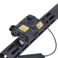 AN PEQ-15 Red Dot Laser White LED Strobe Flashlight for Standard 20mm Rail Night Vision Hunting Rifle Air Gun