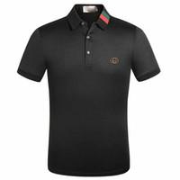 Wholesale luxury linen brands resale online - 2020 Luxury Designer Cotton Polo Shirts Men High Street Fashion Little Bee Print polos Mens desginer Brand Polo t shirt