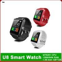 Wholesale phone android 7 resale online - Bluetooth U8 Smartwatch Wrist Watches Touch Screen For iPhone Samsung S8 Android Phone Sleeping Monitor Smart Watch With Retail Package