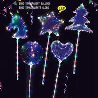 Wholesale ballon toys resale online - Bobo Balloon Transparent Glowing Ballon Baby Shower Kids Toy Birthday Party Wedding Christmas unicorn Shower Decor balloon KKA8111