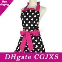 Wholesale aprons pockets for women for sale - Group buy New Design New Fashion Sweetheart Adult Bibs Dots Cotton Fabric Kitchen Cooking Aprons Dress For Woman Waiter With Pocket