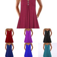 Wholesale r dresses for sale - Group buy 2019 summer women s loose sexy V neck dress summer women s loose suspender skirt sling sling skirt sexy V neck suspender dress rSIV4 rS