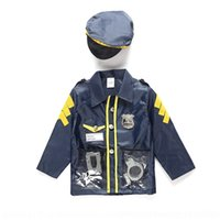 Wholesale police woman halloween costumes resale online - xJyRs Oh8NW New Halloween children s performance Stage clothes clothing costume stage for small police performance costume role men and women