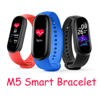 Wholesale multifunctional bracelets resale online - multifunctional M5 Smart Wristbands Watch Fitness Tracker m5 Smart band Bracelet With Magnetic Charging Heart Rate Blood Pressure Monitor