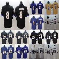 Wholesale football 52 jersey for sale - Group buy 8 Lamar Jackson Mark Andrews Matt Judon Ray Lewis Marcus Peters Football Limited Jersey