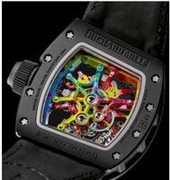 Wholesale CV12 A5 Richard Mill Gold Bracelet Mens Mechanical Steel Automatic Movement Men Watch Sports Watches mens Wristwatches men