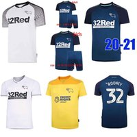 Wholesale football soccer equipment for sale - Group buy Thailand top Derby County Football Club Soccer Jerseys Rooney football shirts soccer shirts tops equipment kids kits maillot