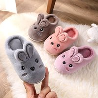 Wholesale children winter slippers for sale - Group buy 2020 New Winter Kids Slippers Cartoon Toddler Girls Flip Flop Plush Slides Baby Boys Indoor Shoes Warm House Children Slippers